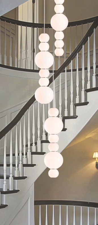 Lustre pearls double chandelier 3 chrome led l103cm h67cm formagenda normal