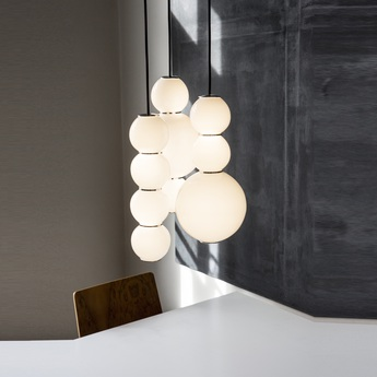 Lustre pearls led 3 abd blanc chrome o41cm formagenda normal