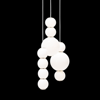 Lustre pearls led 3 abd blanc or o41cm formagenda normal