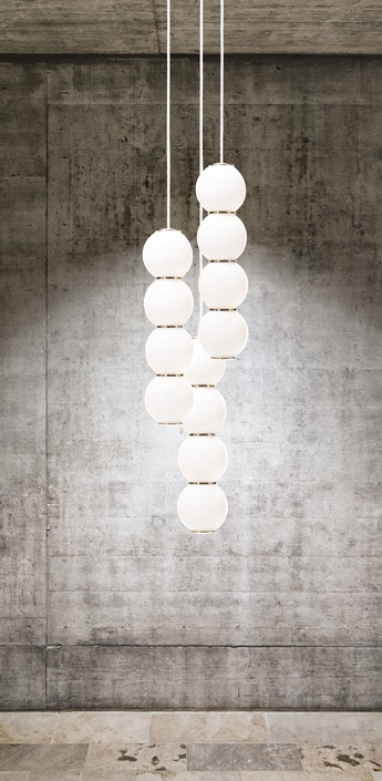 Lustre pearls led 3 bbb blanc or o41cm formagenda normal