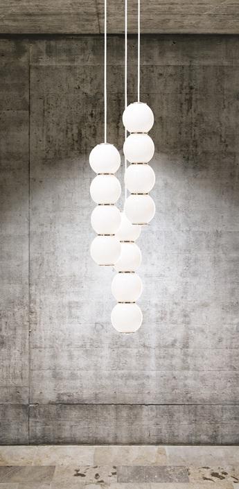 Lustre pearls led 3 bbb blanc or o41cm formagenda normal