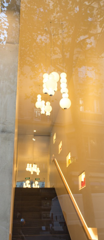 Lustre pearls led 5 abcde blanc or o50cm formagenda normal