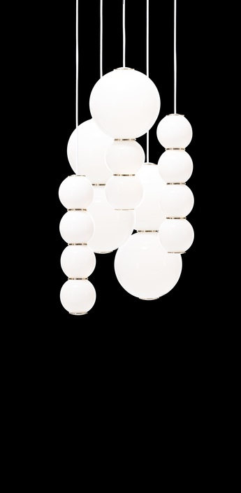 Lustre pearls led 5 bbcee blanc or o50cm formagenda normal