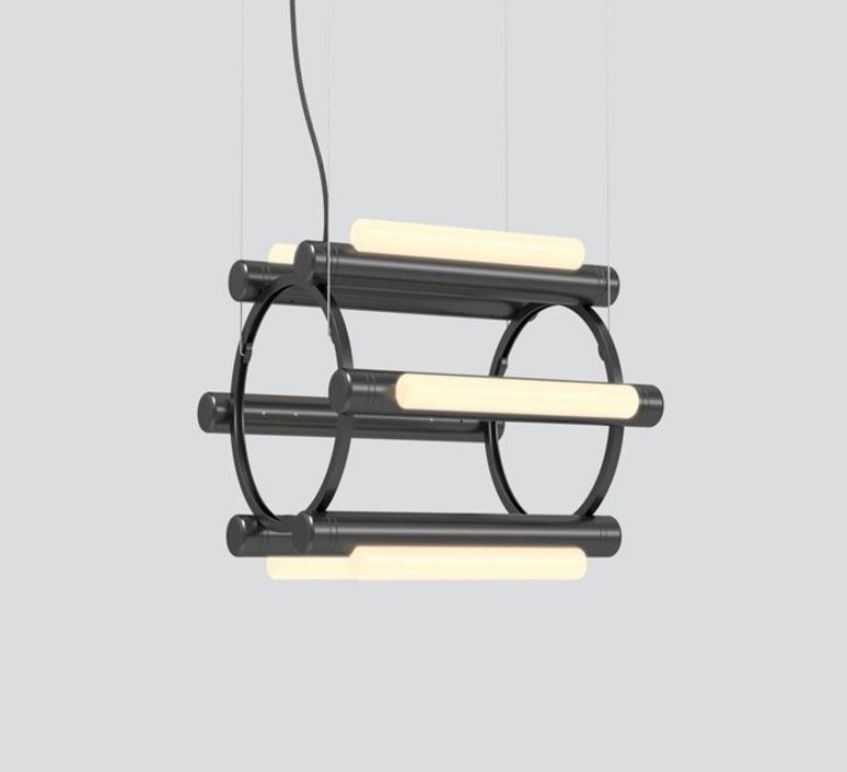 Pipeline chandelier 1 caine heintzman lustre chandelier  andlight pip cha 1 p bk 27 elv 120  design signed nedgis 114734 product