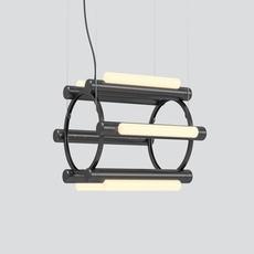 Pipeline chandelier 1 caine heintzman lustre chandelier  andlight pip cha 1 p bk 27 elv 120  design signed nedgis 114734 thumb