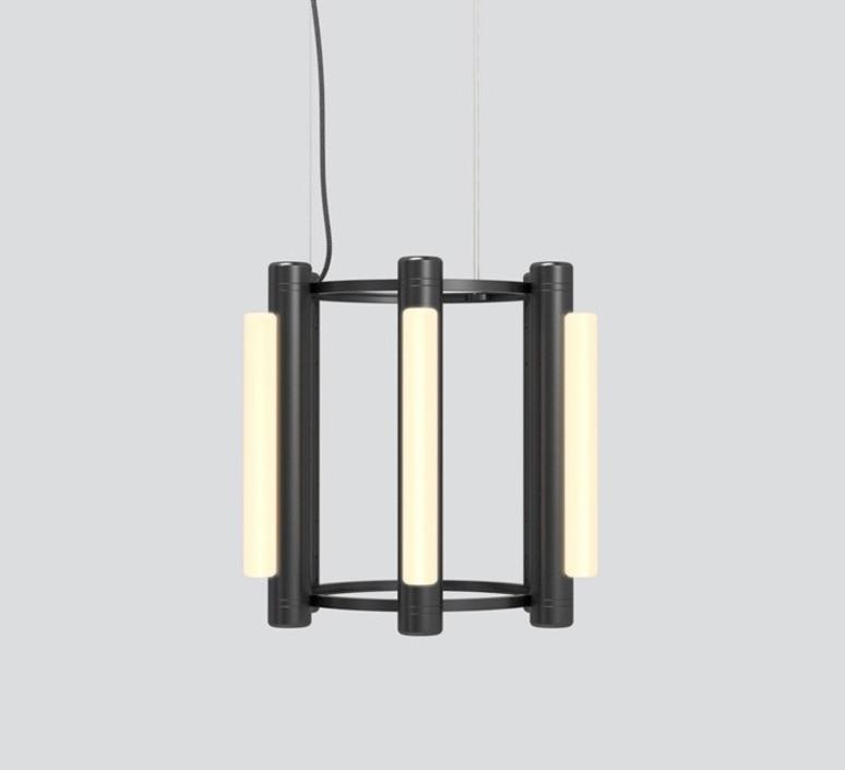 Pipeline chandelier 1 caine heintzman lustre chandelier  andlight pip cha 1 p bk 27 elv 120  design signed nedgis 114735 product