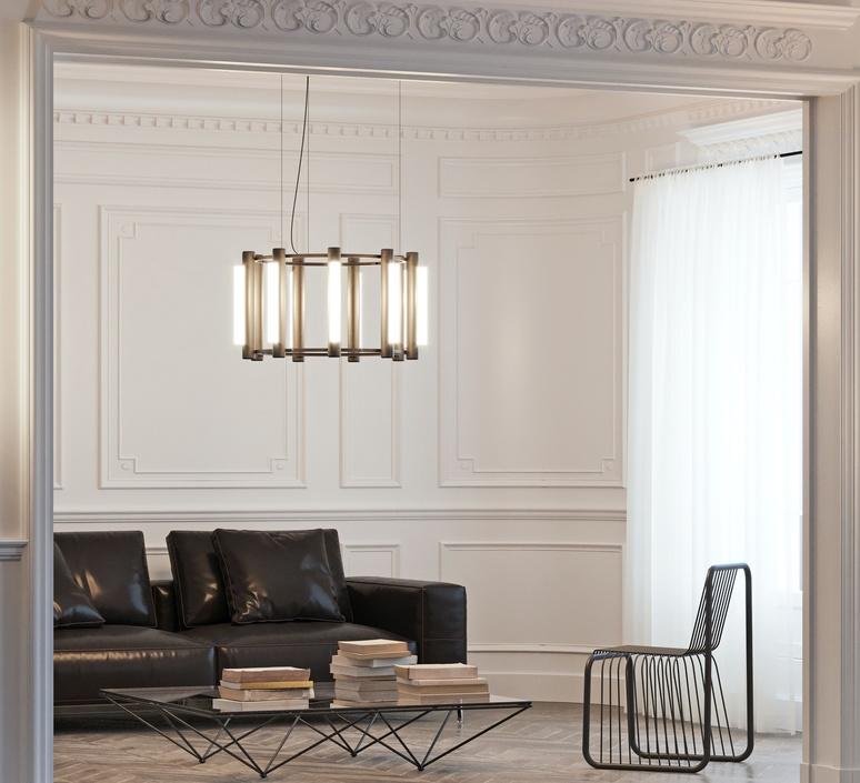 Pipeline chandelier 2 caine heintzman lustre chandelier  andlight pip cha 2 p bk 27 elv 120   design signed nedgis 107332 product
