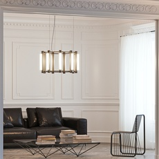 Pipeline chandelier 2 caine heintzman lustre chandelier  andlight pip cha 2 p bk 27 elv 120   design signed nedgis 107332 thumb