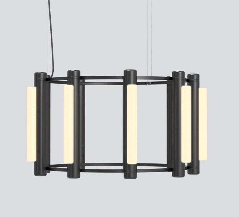 Pipeline chandelier 2 caine heintzman lustre chandelier  andlight pip cha 2 p bk 27 elv 120   design signed nedgis 107333 product