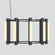 Pipeline chandelier 2 caine heintzman lustre chandelier  andlight pip cha 2 p bk 27 elv 120   design signed nedgis 107333 thumb