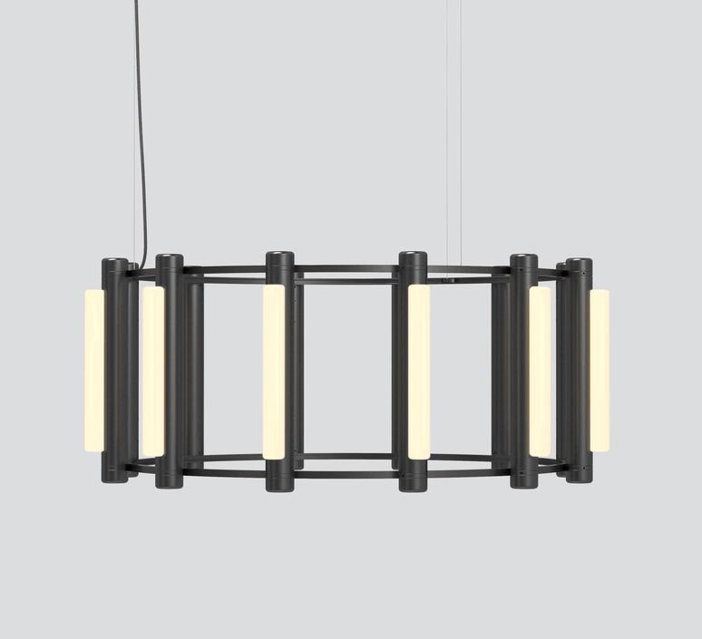 Pipeline chandelier 3 caine heintzman lustre chandelier  andlight pip cha 3 p bk 27 elv 120  design signed nedgis 114732 product