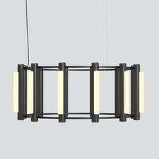 Pipeline chandelier 3 caine heintzman lustre chandelier  andlight pip cha 3 p bk 27 elv 120  design signed nedgis 114732 thumb