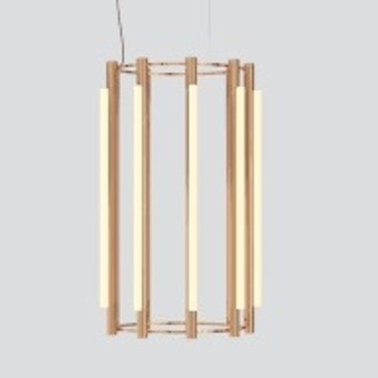 Lustre pipeline chandelier 5 cuivre led 4100k o76cm h125cm andlight normal