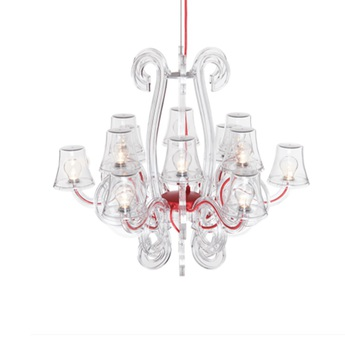 Lustre rockcoco 12 0 transparent rouge ip44 ip55 led o 78 cm h67cm fatboy normal