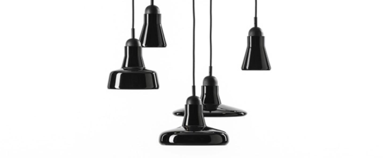 Lustre shadows dimmable noir verre brillant h200cm o54cm brokis normal