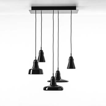 Lustre shadows dimmable noir verre brillant h200cm o54cm brokis normal