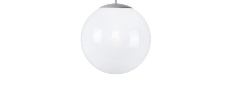 Lustre spheremaker 1 sphere blanc led o25cm h25cm fatboy normal
