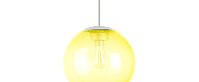 Lustre spheremaker 1 sphere jaune led o25cm h25cm fatboy normal