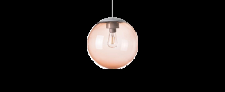 Lustre spheremaker 1 sphere marron claire led o25cm h25cm fatboy normal
