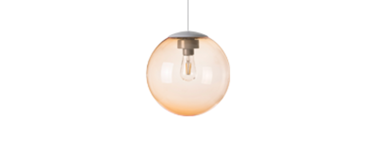 Lustre spheremaker 1 sphere orange claire led o25cm h25cm fatboy normal