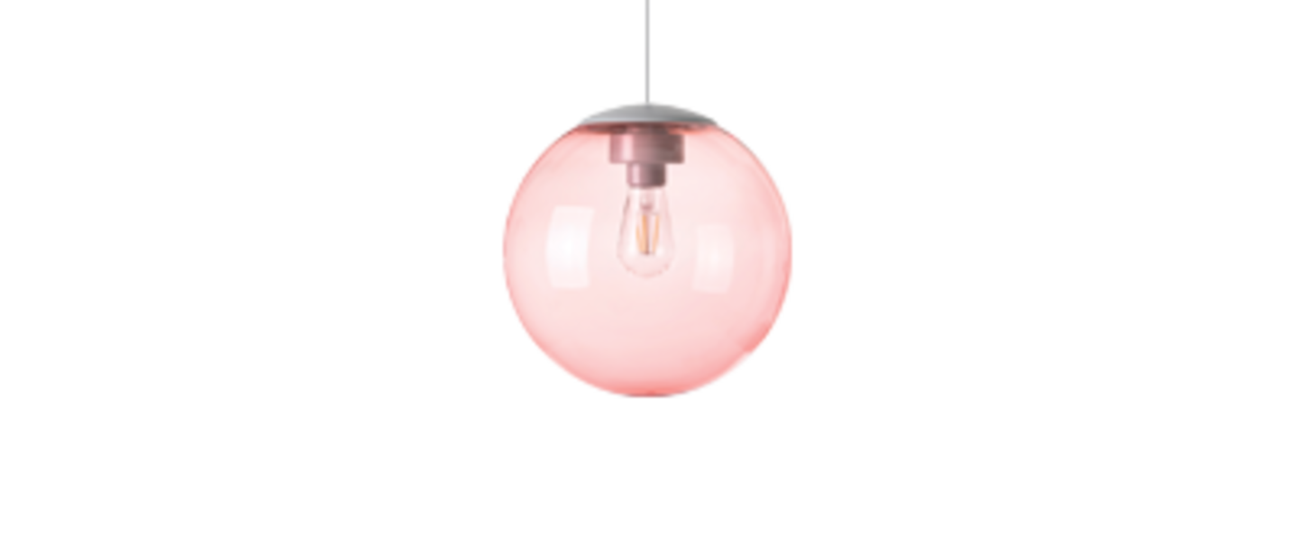 Lustre spheremaker 1 sphere rose led o25cm h25cm fatboy normal