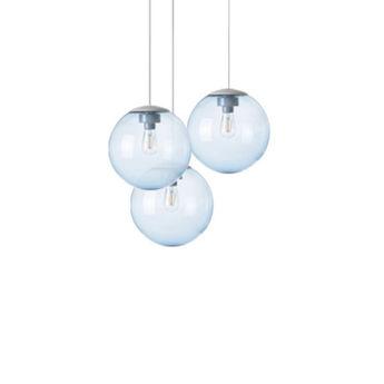 Lustre spheremaker 3 spheres bleu claire led o50cm h25 a 50cm fatboy normal
