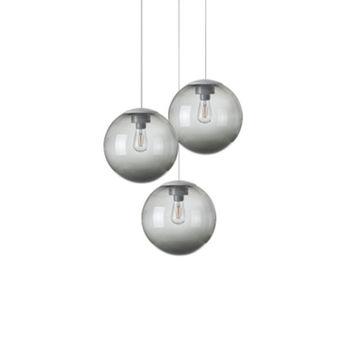 Lustre spheremaker 3 spheres gris led o50cm h25 a 50cm fatboy normal