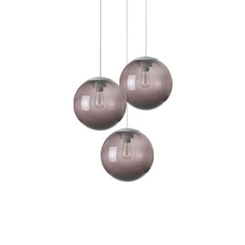 Lustre spheremaker 3 spheres marron led o50cm h25 a 50cm fatboy normal