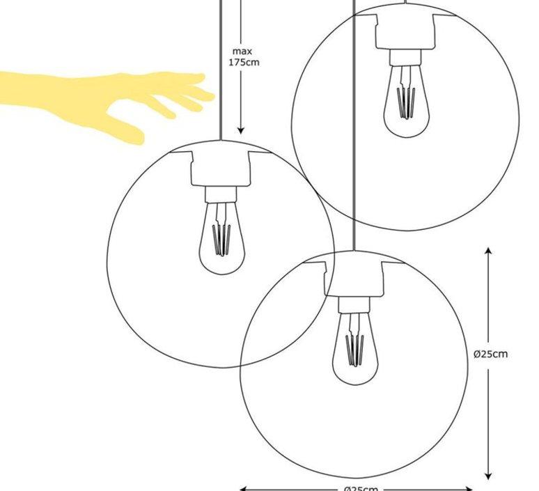 Spheremaker 3 spheres alex bergman lustre chandelier  fatboy 100074  design signed 59203 product