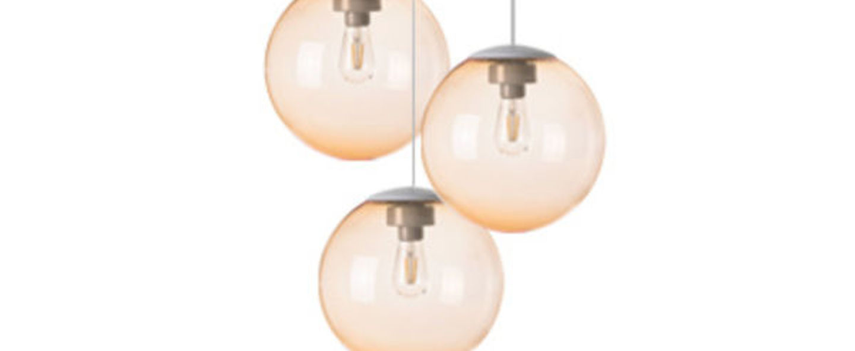 Lustre spheremaker 3 spheres orange claire led o50cm h25 a 50cm fatboy normal