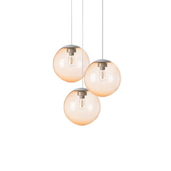 Lustre spheremaker 3 spheres orange claire led o50cm h25 a 50cm fatboy normal