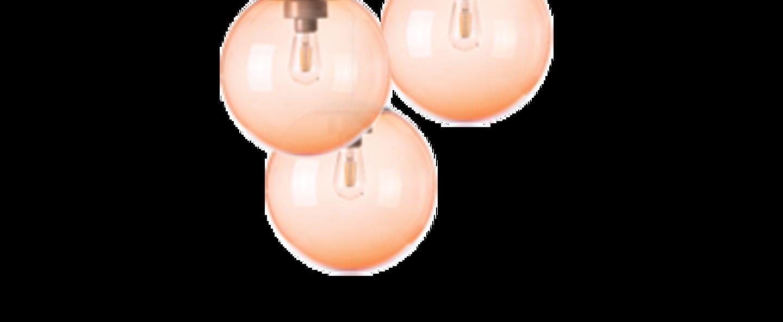 Lustre spheremaker 3 spheres orange led o50cm h25 a 50cm fatboy normal