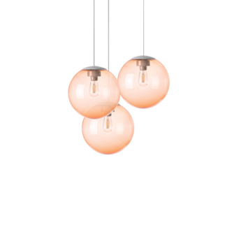 Lustre spheremaker 3 spheres orange led o50cm h25 a 50cm fatboy normal