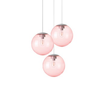 Lustre spheremaker 3 spheres rose led o50cm h25 a 50cm fatboy normal