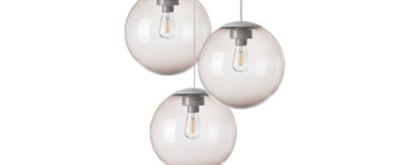 Lustre spheremaker 3 spheres taupe led o50cm h25 a 50cm fatboy normal