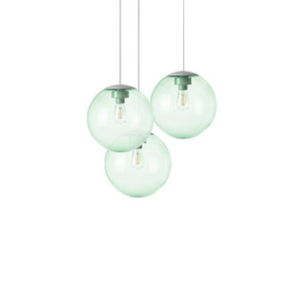 Lustre spheremaker 3 spheres vert led o50cm h25 a 50cm fatboy normal