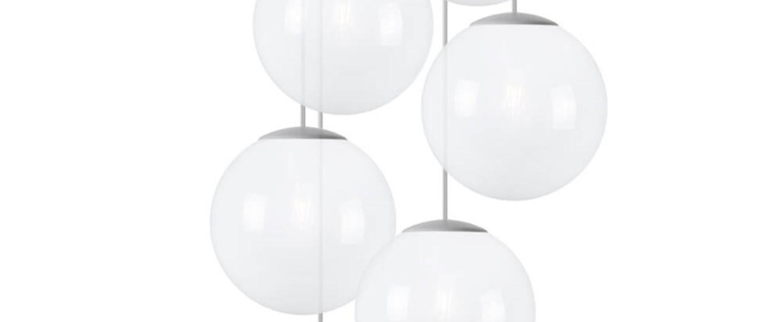 Lustre spheremaker 6 spheres blanc led o60cm h25 a 150cm fatboy normal