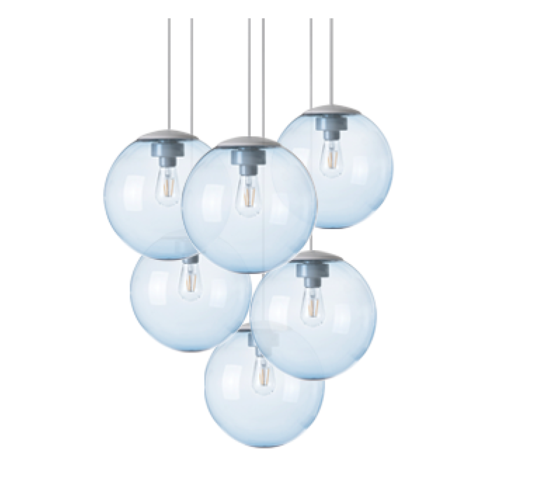Spheremaker 6 spheres alex bergman lustre chandelier  fatboy 100067  design signed 59207 product