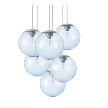 Lustre spheremaker 6 spheres bleu claire led o60cm h25 a 150cm fatboy normal