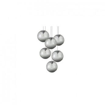 Lustre spheremaker 6 spheres gris led o60cm h25 a 150cm fatboy normal