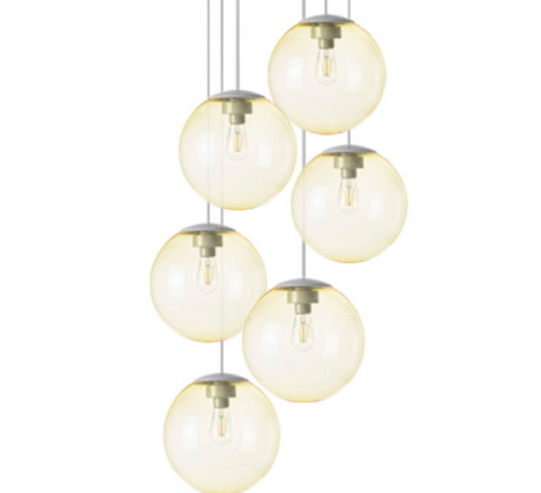 Spheremaker 6 spheres alex bergman lustre chandelier  fatboy 100070  design signed 59210 product