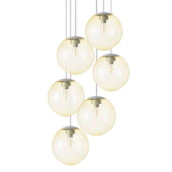 Lustre spheremaker 6 spheres jaune led o60cm h25 a 150cm fatboy normal