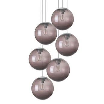 Lustre spheremaker 6 spheres marron led o60cm h25 a 150cm fatboy normal