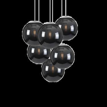 Lustre spheremaker 6 spheres noir led o60cm h25 a 150cm fatboy normal