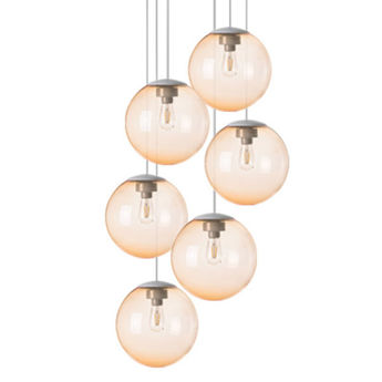 Lustre spheremaker 6 spheres orange claire led o60cm h25 a 150cm fatboy normal