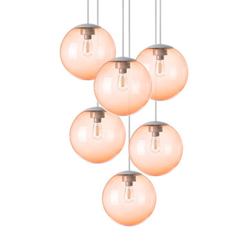Lustre spheremaker 6 spheres orange led o60cm h25 a 150cm fatboy normal