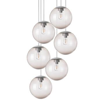 Lustre spheremaker 6 spheres taupe led o60cm h25 a 150cm fatboy normal