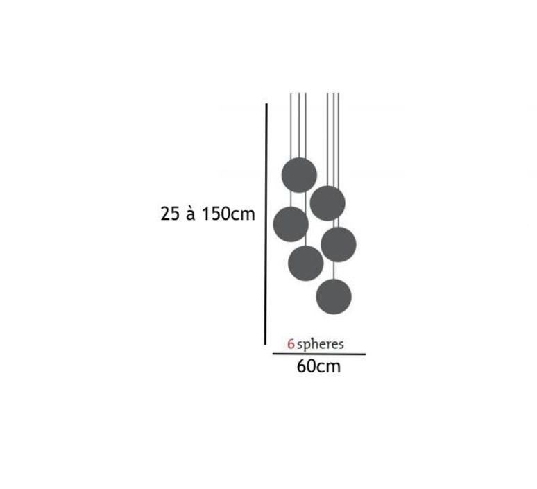 Spheremaker 6 spheres alex bergman lustre chandelier  fatboy 100083  design signed 59221 product