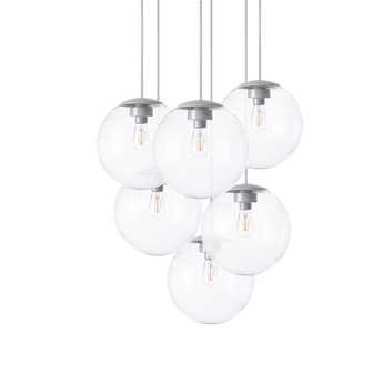 Lustre spheremaker 6 spheres transparent led o60cm h25 a 150cm fatboy normal