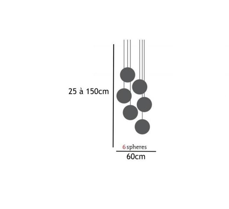 Spheremaker 6 spheres alex bergman lustre chandelier  fatboy 100068  design signed 59204 product